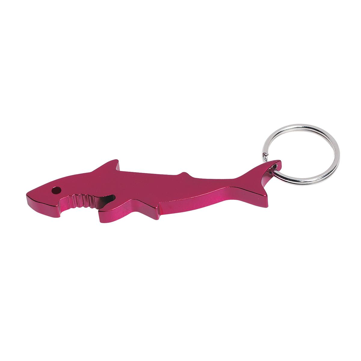 shark bottle opener key ring promotional keychains rushimprint. Black Bedroom Furniture Sets. Home Design Ideas