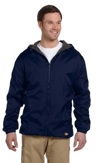 Dickies Fleece-Lined Hooded Nylon Jackets