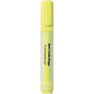 Rectangular Highlighter with Frosted Barrel