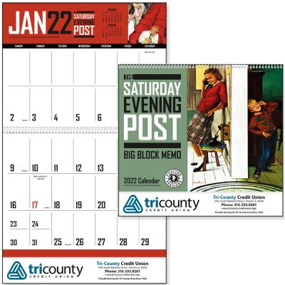 The Saturday Evening Post Big Block Memo Calendar