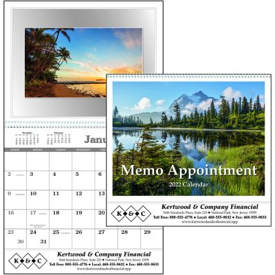 Memo Appointment with Picture Calendars
