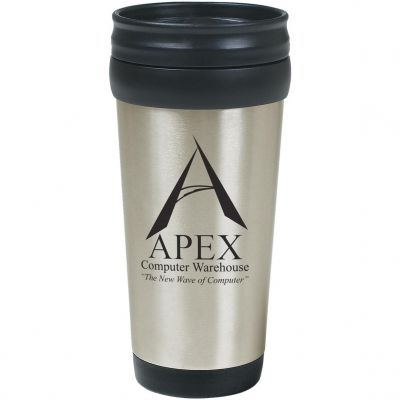16 Oz. Stainless Steel Tumbler With Slide Action Lid And Plastic