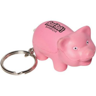 Pig Key Chain Stress Reliever