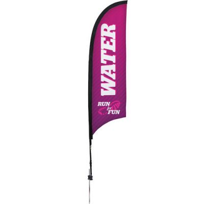 7' Razor Sail Sign Kit Single-Sided w/Spike Base