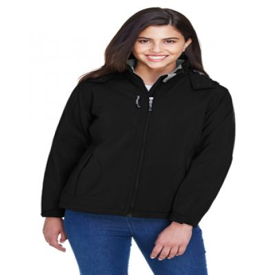 Glacier Ladies' Insulated Soft Shell Jacket With Detachable Hood