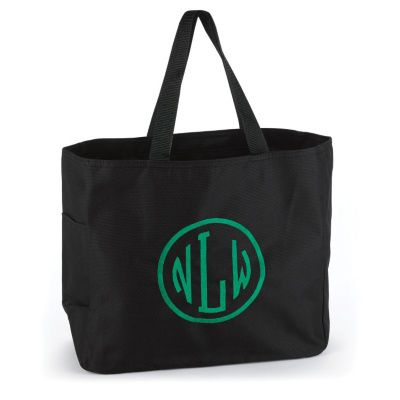Circle Monogram - Tote Bag - Black