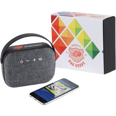 Woven Fabric Bluetooth Speaker with Full Color Wra