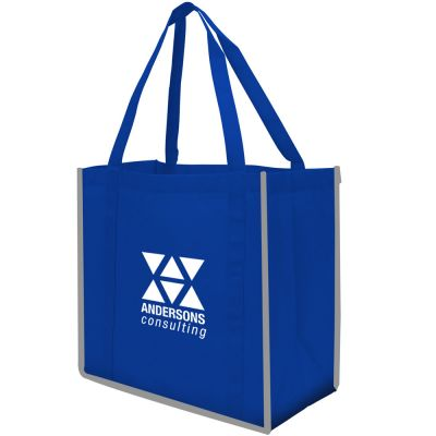 Reflective Large Non-Woven Grocery Tote Bag