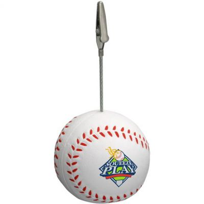 Baseball Memo Holder Stress Relievers