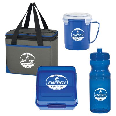 Large Blue Soup and Sandwich Lunch Kits