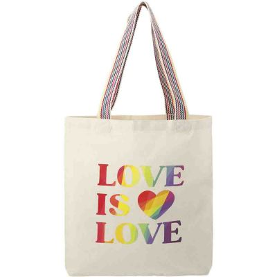 Rainbow Recycled 6oz Cotton Convention Totes