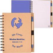 Recycle Die Cut Notebooks: Globe
