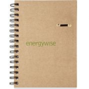 ECO Hard Cover Spiral Notebook - 5 3/4 x 8 1/4