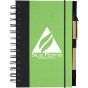 Eco‑Friendly 5 X 7 Spiral Notebook & Pen