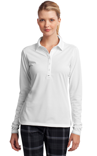 Nike Women's Long Sleeve Dri-FIT Stretch Tech Polo