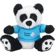 6 Plush Big Paw Panda with Shirt