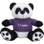 "8‑1/2"" Plush Big Paw Panda with Shirt"