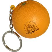 Orange Key Chain Stress Reliever