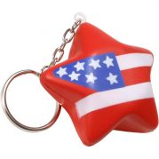 Patriotic Star Key Chain Stress Reliever