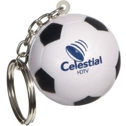 Soccer Ball Key Chains Stress Relievers