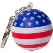 Patriotic Stress Ball Key Chain Stress Reliever