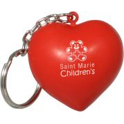 Valentine Heart Key Chain Stress Reliever