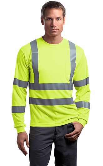 ANSI 107 Class 3 Long Sleeve Snag-Resistant Reflective T-shirts