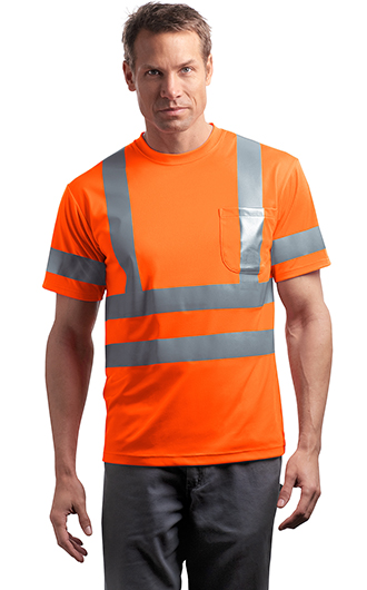 ANSI 107 Class 3 Short Sleeve Snag-Resistant Reflective T-shirts