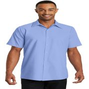 Red Kap Mens Short Sleeve Pocketless Gripper Shirt