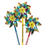 Metallic Rainbow Pinwheels