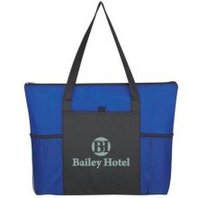 Non-Woven Voyager Zippered Tote Bags