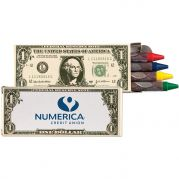 4 Pack Money Design Crayons