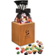Faux Leather Pen & Pencil Cup with JELLY BELLY Gourmet Jelly Bea