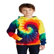 Port & Company Youth Essential Tie-Dye Pullover Hooded Sweat