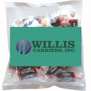 Business Card Magnet w/ Small Bag of Tootsie Rolls