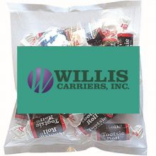 Business Card Magnet w/ Small Bags of Tootsie Rolls
