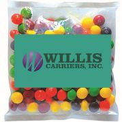 Business Card Magnet w/ Small Bag of Skittles