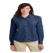 Port & Company Ladies Long Sleeve Value Denim Shirt