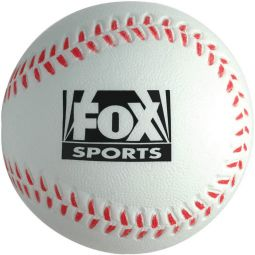 Baseball Stress Reliever White