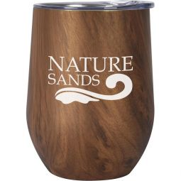 12 Oz. Woodgrain Alexander Stemless Wine Cups