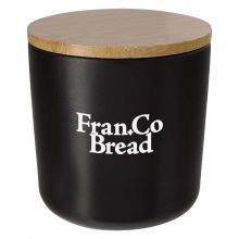 17 Oz. Ceramic Containers With Bamboo Lid