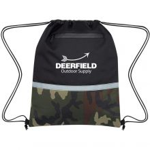 Camo Accent Drawstring Sports Packs
