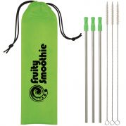 3- Packs Stainless Steel Straw Kits