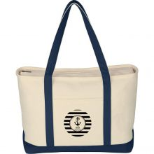 Large Heavy Cotton Canvas Boat Tote Bags