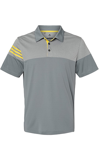 Adidas - Heathered 3-Stripes Block Sport Shirt