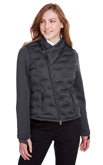 North End Women's Loft Pioneer Hybrid Bomber Jacket