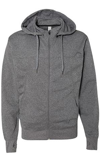 Independent Trading Co. - Poly-Tech Full-Zip Hooded Sweatshirt&a