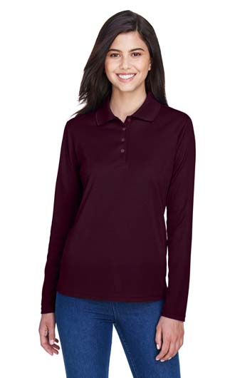 Core 365 Women's Pinnacle Performance Long-Sleeve Pique Polo