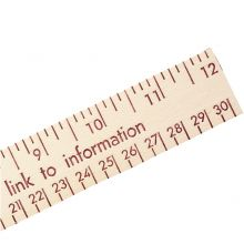Natural Finish Wood Ruler - English and Metric Scale 12