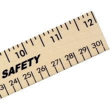 Clear Lacquer Wood Ruler - English & Metric Scale 12